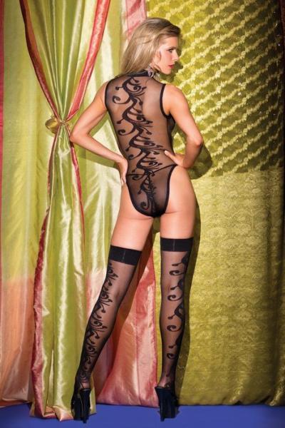Teddy 2 Piece Jacquard Swirl Pattern & Stockings Queen Size