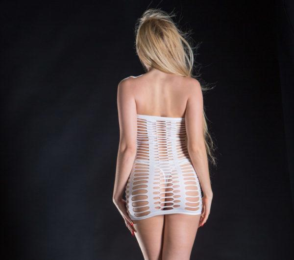 Naughty Girl Tube Dress White O/S