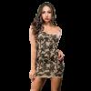 Naughty Girl Camo Dress One Shoulder O/S