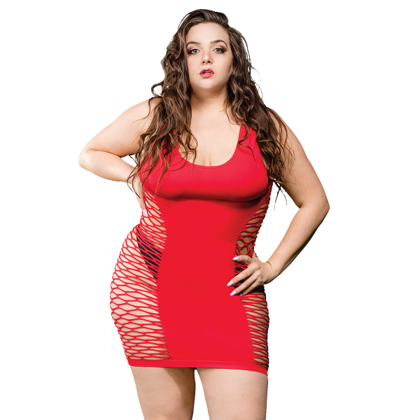 Naughty Girl Ladies Marie Dress Red Q/S