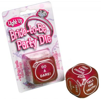 Bride To Be Light Up Party Die
