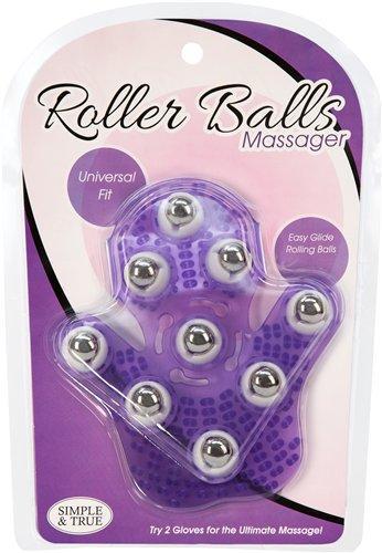 Roller Balls Massager Purple Massage Glove