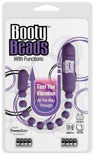 Booty Beads 7 Functions Vibrating Purple