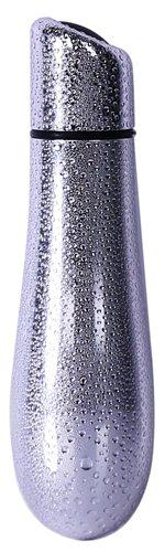 Rain Power Bullet Vibrator Textured Silver