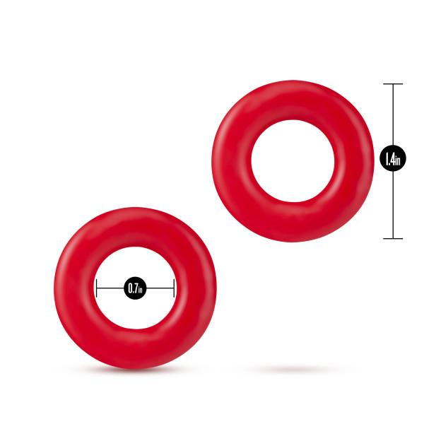 Stay Hard Donut Rings Red Pack Of 2