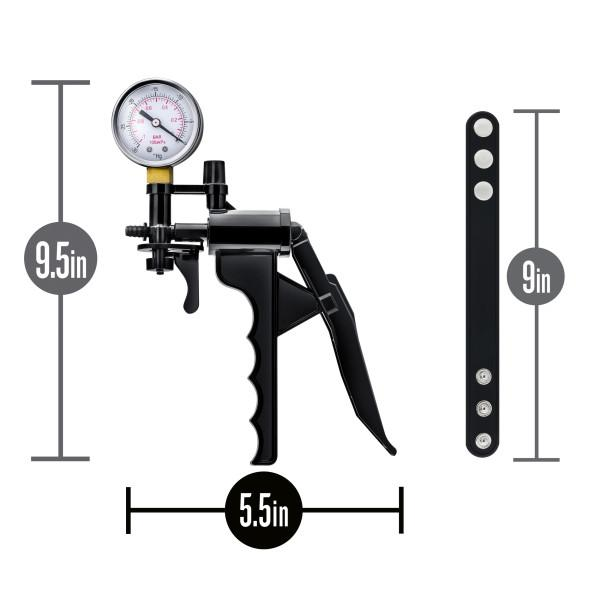 Performance Gauge Pump Pistol, Tubing & Cock Strap Black