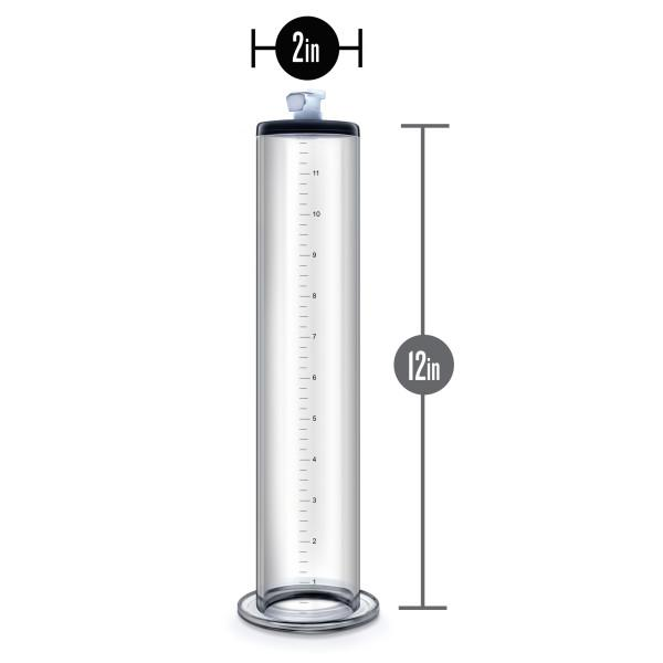 Performance 12 Inches X 2 Inches Penis Pump Cylinder Clear