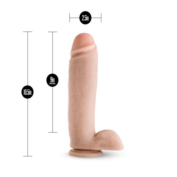 Silicone Willy's 10.5 inches Dildo Suction Cup Beige