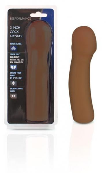 "Xtender 3"" Penis Enhancer - Brown"