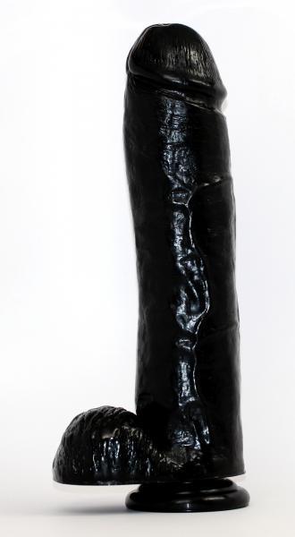 """Hammer Huge Dildo 11.5"""" - Black - Bulk"""