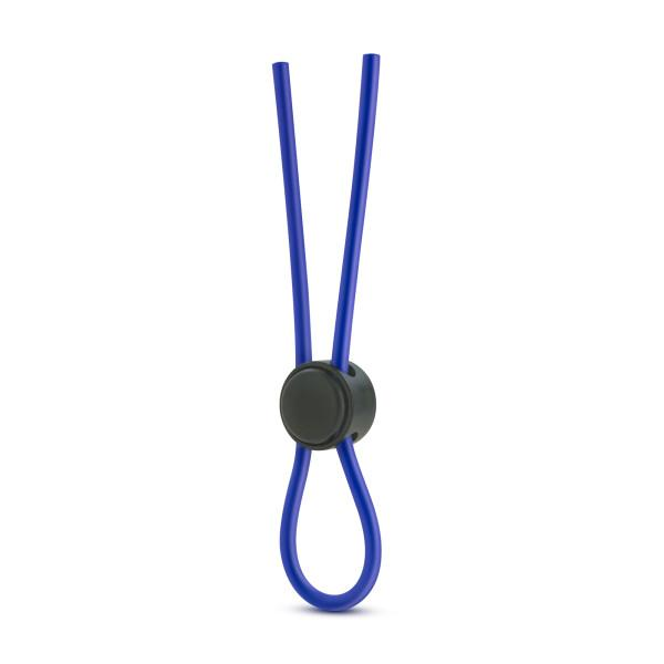 Stay Hard Silicone Loop Cock Ring Blue