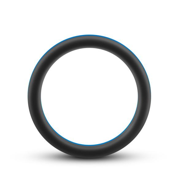 Performance Silicone Go Pro Cock Ring Black Blue