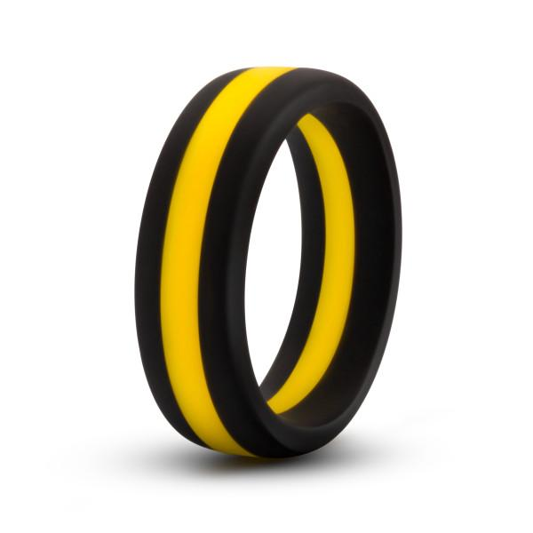 Performance Silicone Go Pro Cock Ring Black Gold