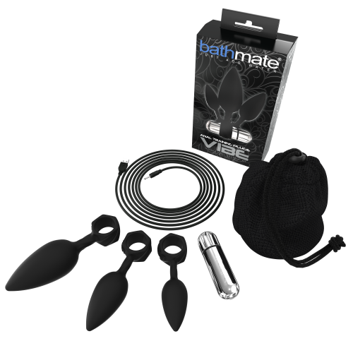 Bathmate Anal Training Plugs Vibe Black
