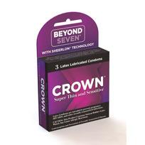 Crown Latex Condoms 3 Pack Extras C20003