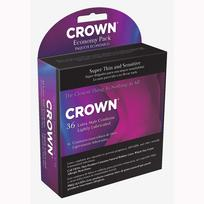 Crown Latex Condoms 36 Economy Pack Extras C20036