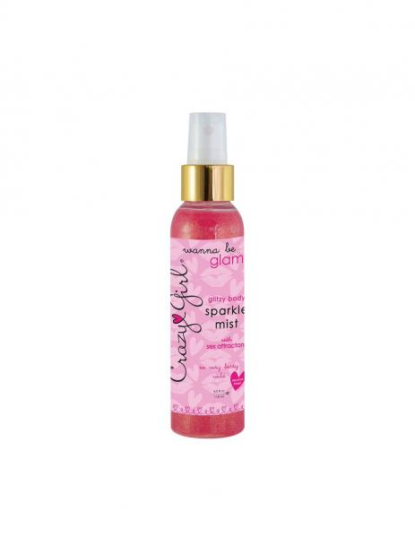 Crazy Girl Glitzy Body Mist Berry Pink 4oz