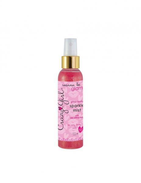 Crazy Girl Glitzy Body Mist Berry Pink 4oz
