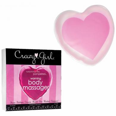 Crazy Girl Warming Heart Massager Pink