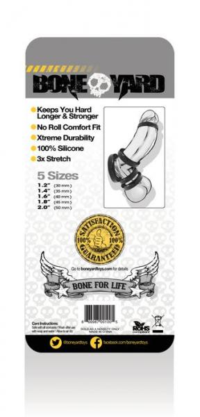 Boneyard Silicone Ring 5 Piece Kit Black