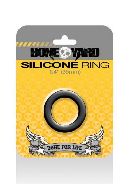 Boneyard Silicone Ring 1.4 inches Black