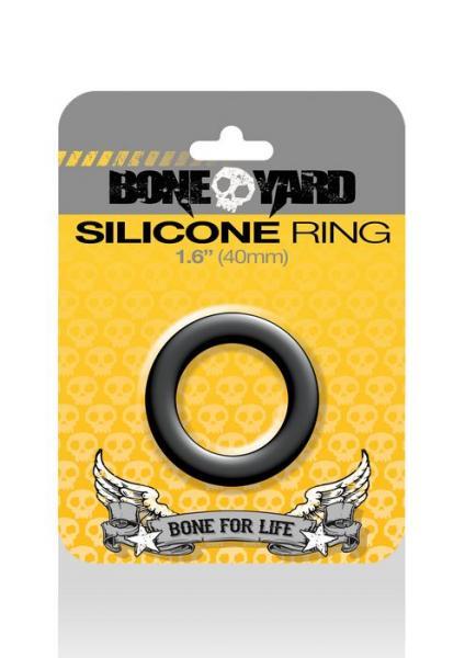 Boneyard Silicone Ring 1.6 inches Black