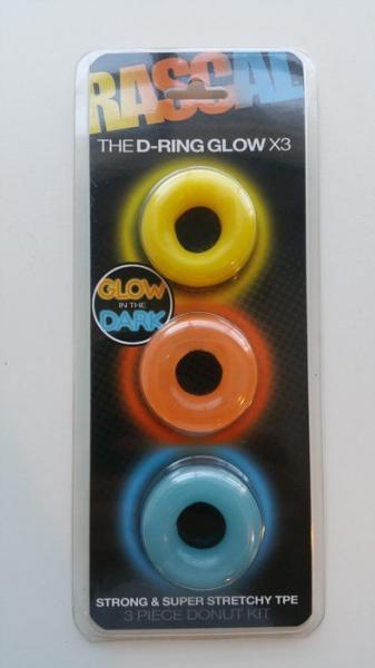 Rascal Toys The D-Ring Glow X3 3 Piece Donut Kit