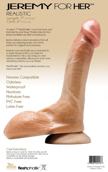 Jeremy For Her Genuine Cast Dildo