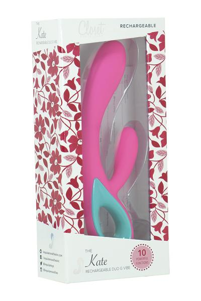 The Kate Rechargeable Duo G Vibe Pink