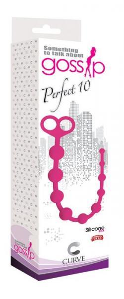 Gossip Perfect 10 Magenta Anal Beads