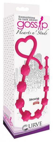 Gossip Hearts N Studs Magenta Pink Anal Beads