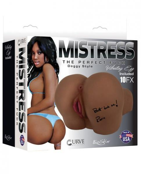 Mistress Paris Vibrating Butt Doggy Style Stroker Brown