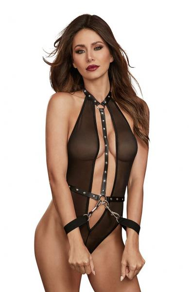Teddy with Restraints Black O/S