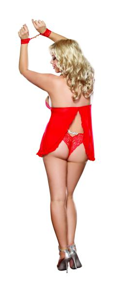 Babydoll with Panty Red Queen Size