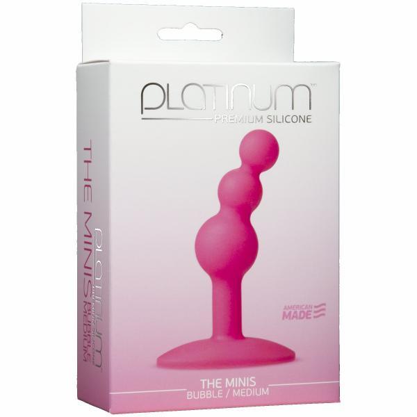 Minis Bubble Medium Pink Anal Probe