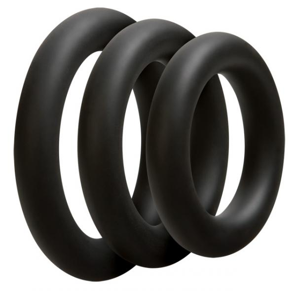 Optimale 3 Silicone C-Ring Set Thick - Black