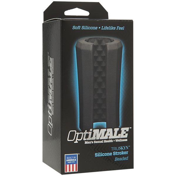 Optimale Silicone Stroker Beaded Black