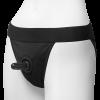 Vac-U-Lock Full Back Panty Harness Black S/M