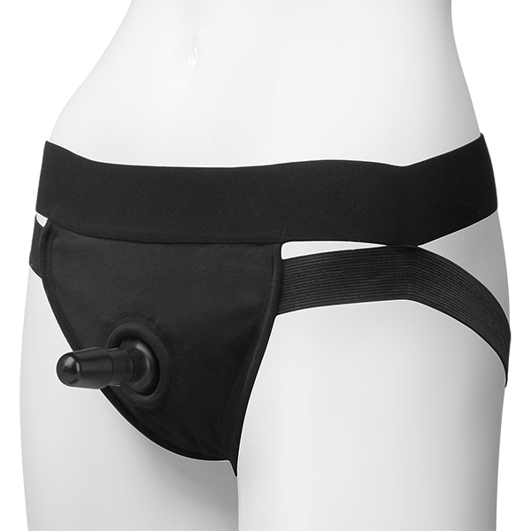 Vac-U-Lock Panty Harness with Dual Strap Black L/XL
