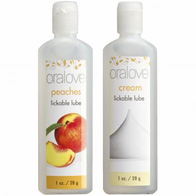 Oralove Delicious Duo Lickable Lubes Peaches and Cream