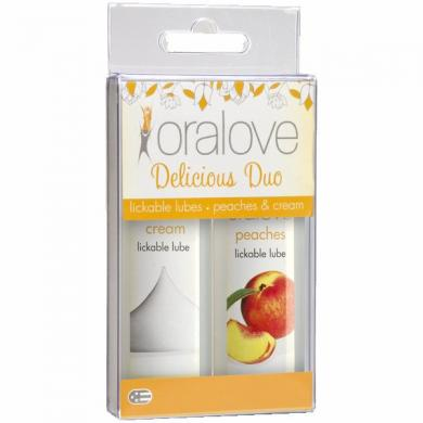 Oralove Delicious Duo Lickable Lubes Peaches and Cream
