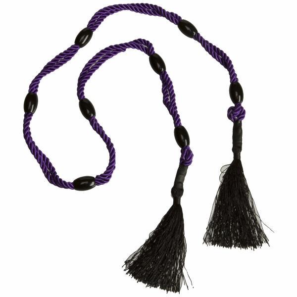 Beaded Bondage Bliss Purple Rope
