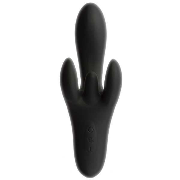 Kink Pulse Ultimate 4 Motor Silicone Vibrator Black