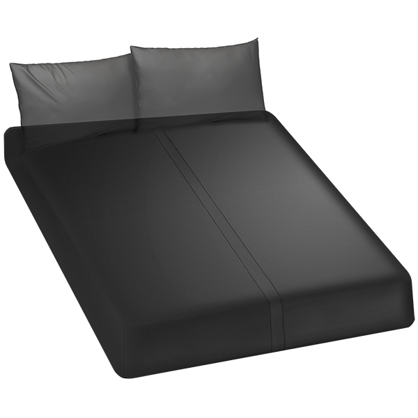 Kink Wet Works Fitted Play Sheet Queen Black
