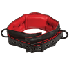 Kink Leather Handler's Collar Black Red