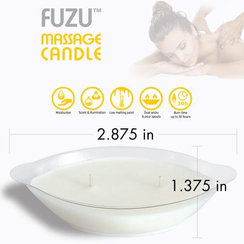 Fuzu Massage Candle Fiji Dates & Lemon Peel 4oz