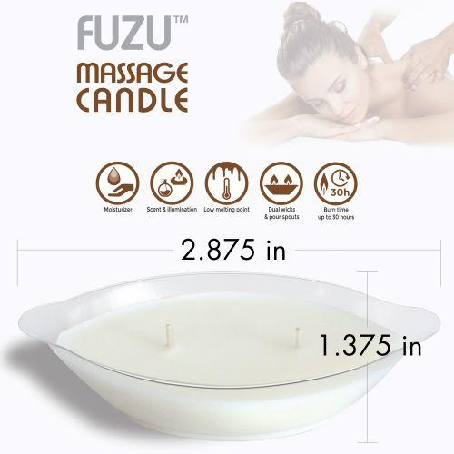 Fuzu Massage Candle Warm Vanilla Sugar 4oz