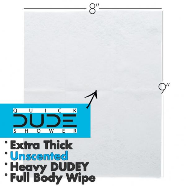 Dude Shower Quick 10 Pack Singles For Travel