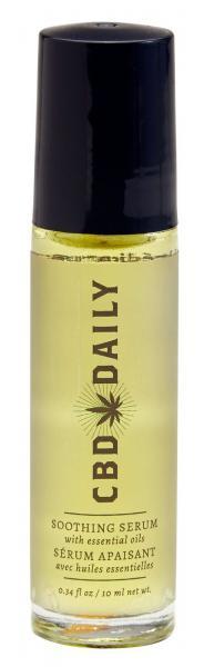CBD Daily Soothing Serum Roller Ball Bottle .34oz