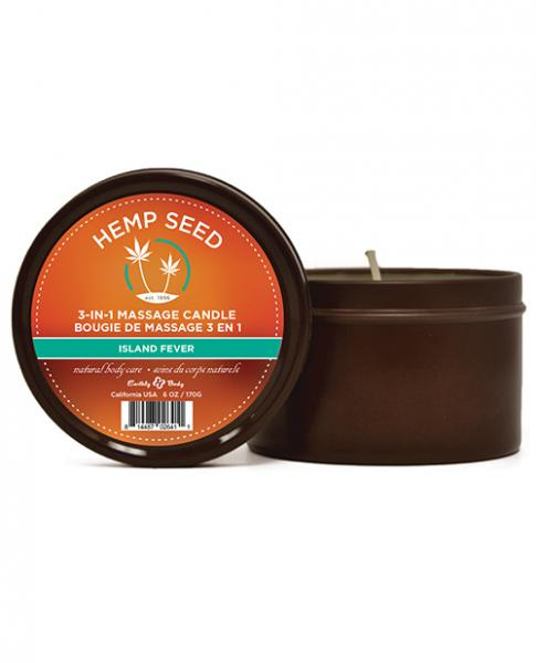 Earthly Body Summer Massage Candle Island Fever 6oz